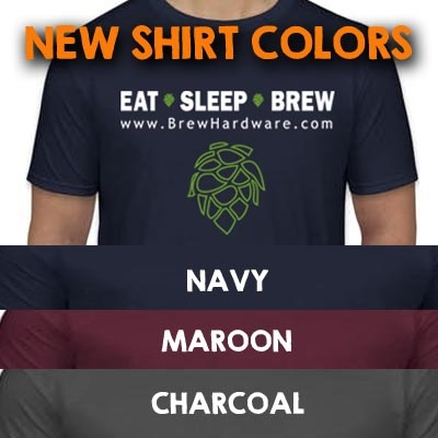 Eat Sleep Brew Tee Shirt - Short Sleeve All Colors and Sizes