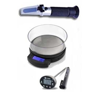 Toolkit = Brix/OG Refractometer, Scale, Digital Thermometer