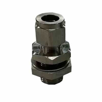 TRUE Weldless Bulkhead - With 1/2 Compression Fitting Bore Thru