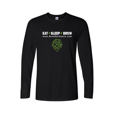 Eat Sleep Brew Tee Shirt - Long Sleeve