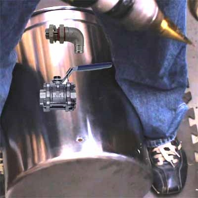 Add A Weldless Drain Bulkhead and Valve with Labor