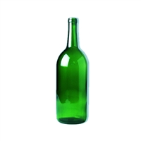 1.5 Liter Green Magnum Claret Wine Bottles, Case of 6