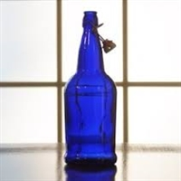 EZ Cap 1 Liter Cobalt Blue Flip Top Bottles, Case of 12