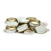 28mm White Metal Screw Cap For Wine Bottles (Dozen)