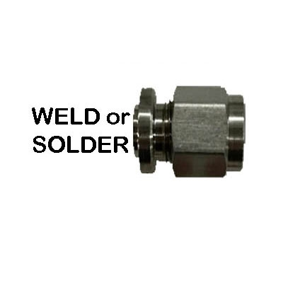 "Compression Spud,  Weld or Solder 1/2"" OD Tube Compression"
