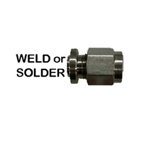 "Compression Spud,  Weld or Solder 1/4"" OD Tube Compression"