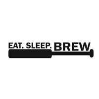 "Homebrew Decals - ""Eat Sleep Brew"""