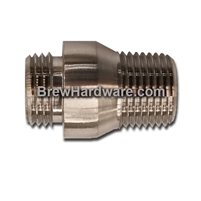 "Pull Through Solderable Bulkhead 1/2"" M/M NPT"