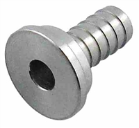 "Tailpiece, 1/4"" Barb, Stainless Steel"