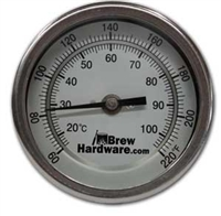"Dial Thermometer - 3"" face, 6"" Probe, 1/2"" NPT"