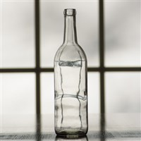 750ml Clear Bordeaux Wine Bottles, Case of 12
